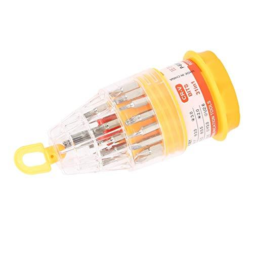 Juego de puntas de destornillador multipropósito antioxidante 31 en 1 45# de acero 4 pulgadas mango antideslizante puntas magnéticas de alta dureza para reparación de teléfono