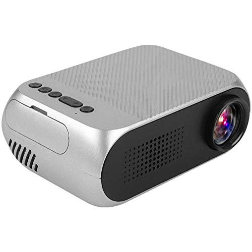 Boenxuan Mini Beamer, Mini Multimedia Tragbar HD Beamer Heimkino Projektor Tragbar Home Theater LED Mini Projektor Media Player,Silber