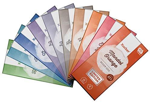 Xucker - Probierset alle 10 Schokoladen-Tafeln inkl. der neuen, limitierten Sorte Madel Orange (9 x 100g, 1 x 80g)