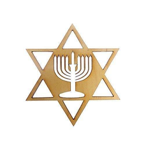 Menorah Ornaments- Star of David Ornament - Menorah Hanukkah Decoration - Hanukkah Ornaments - Hanukkah Gift - Hanukkah Ornament