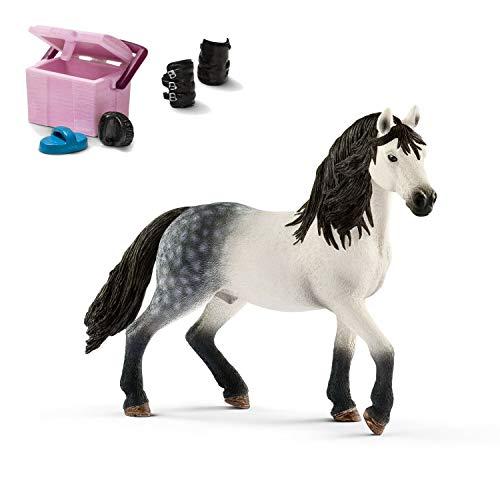 Horseclub Schleich 13821 Andalusier Hengst + 42114 Pferdepflege