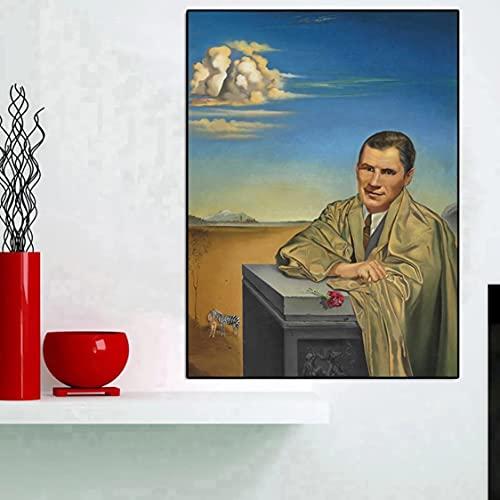 Danjiao Personajes De Escritorio Pintura Al Óleo Sobre Lienzo Carteles E Impresiones Cuadros Imágenes Artísticas De Pared Para Decoración De Sala De Estar Sala De Estar Decor 60x90cm