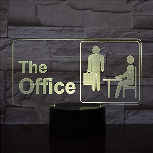 3D Desk lamp Multi-Color LED Office Worker Model Night Light Decoration Gift