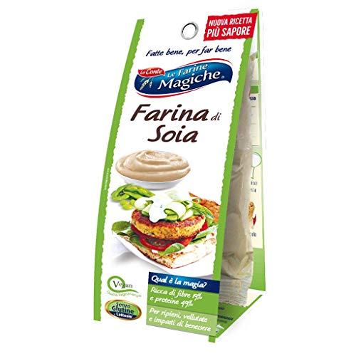Le Farine Magiche Farina di Soia, Senza Glutine, ricca di Fibre, Proteine e Vitamine, ideale per...