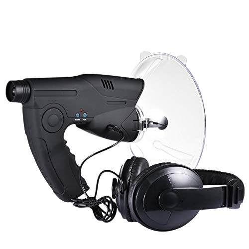 AIHOME - Micrófono parabólico direccional para plato, monocular X8 veces audición de larga distancia, telescopio de escucha de pájaros, caminata de arbustos, caza, pesca, herramientas de camping