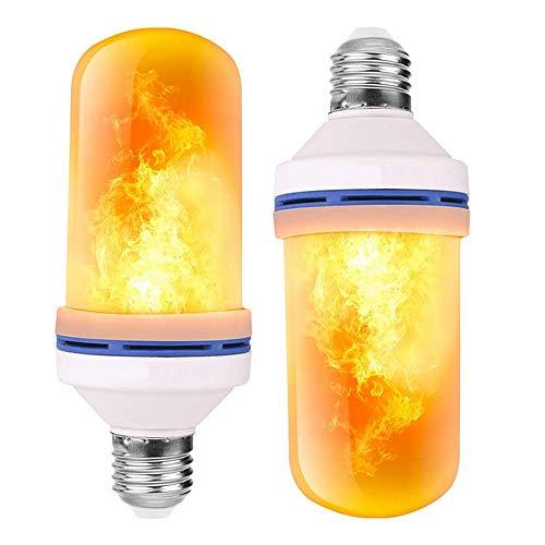 FANIER Bombilla de llama, 2 unidades E27 LED efecto llama con 4 modos de iluminación, bombillas decorativas para interior y exterior, para Halloween, Navidad, fiesta de boda de jardín, casa