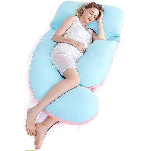Happa U-type zwangerschapskussen, heupkussen voor zijslapers, zijslaapkussen voor buikslapers, stretchmateriaal voor de zwangerschap