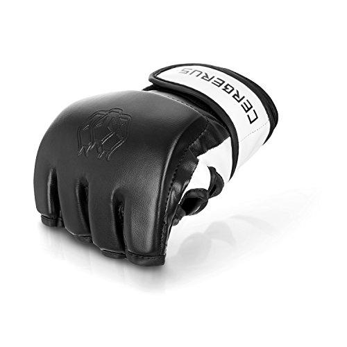 Cerberus Fighting Gear MMA/UFC, guantoni da Boxe, Professionali, di Alta qualità, Perfetti per Arti Marziali Miste, Boxe, Combattimento Libero, Grappl