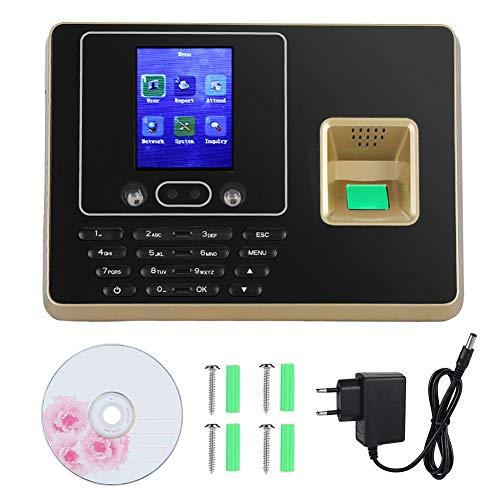Fingerabdruckerkennungsmaschine Machine 2,8 Zoll TFT LCD-Bildschirm Gesicht Fingerabdruckerkennungsmaschine Zeiterfassung Clock Recorder(EU)