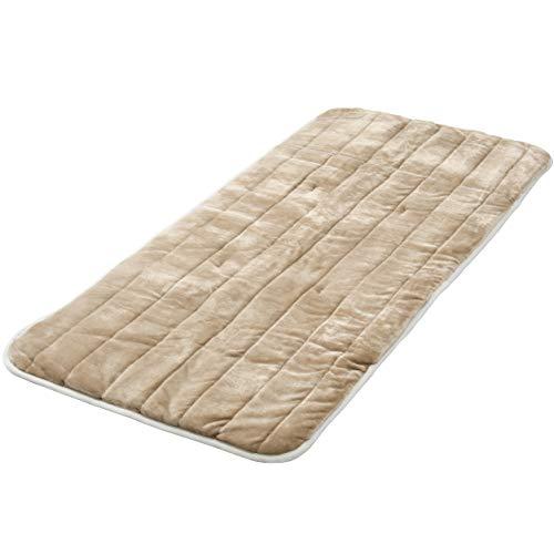 [山善] 洗えるどこでもカーペット (丸洗い可能) 180×80cm フランネル仕上げ 室温センサー付 ベージュ YWC-182F(C) [メーカー保証1年]