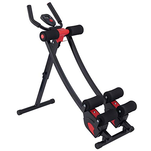 ZELUS Ab Crunch Coaster with Digital Display | Abdominal Training Machine with Independent Glide Paths and 4 Intensity Levels | Home Gym Ab Trainer Machine for Abdominal Leg and Arm Fitness, 330lb Cap