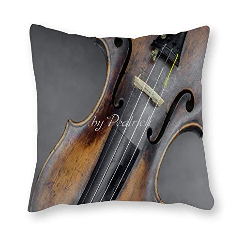 Viowr22iso Fundas de almohada impresionantes para violín, instrumento de arte músico, marco decorativo para decoración del hogar, 55,8 x 55,8 cm