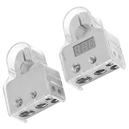 Poste de terminal de batería Conectores positivos negativos Conductividad Terminal de batería Abrazadera Conectores de terminal de batería Terminal de batería de audio para automóvil para