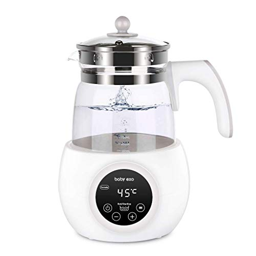 WELLVO Baby Formula Water Kettle Precise Temperature Baby Milk Warmer for 24 Hours 1.2L Boil-Dry Protection Instant Water Warmer
