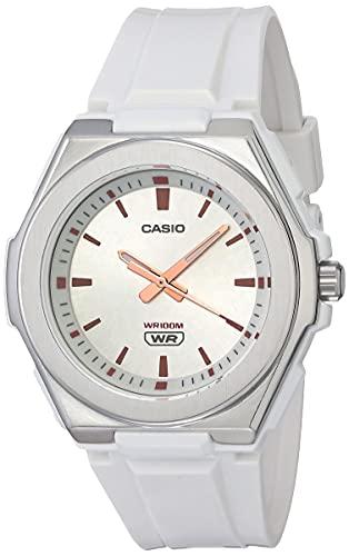 Casio Women's Stainless Steel Quartz Resin Strap, White, 22 Casual Watch (Model: LWA-300H-7EVCF)