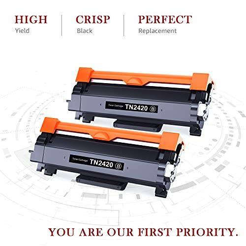 Toner Kingdom Cartucho Toner Compatible para Brother TN2420 TN2410 para Brother MFC-L2710DW HL-L2350DW HL-L2310D HL-L2370DN HL-L2375DW MFC-L2710DN MFC-L2730DW MFC-L2750DW DCP-L2510D DCP-L2530DW
