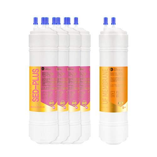 5EA Coway Premium Ersatz-Wasserfilter 1 Jahr Set: CHP-241N