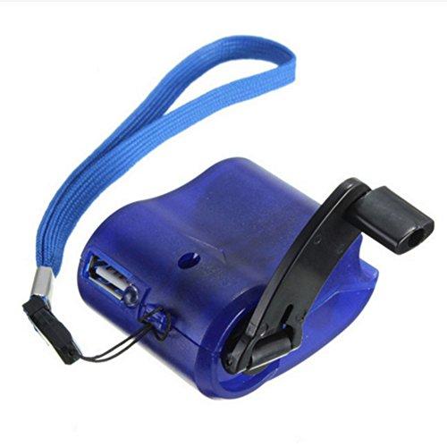 Mini-Hand-Dynamo, USB-Handy-Notfallstrom, tragbares Handkurbel-Ladegerät, elektrischer Generator für Handys, MP3, MP4, mobile Stromversorgung