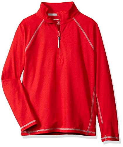 Amazon Essentials Jacke mit halblangem Reißverschluss, für Jungs, Red, US XXL (EU 158 CM)