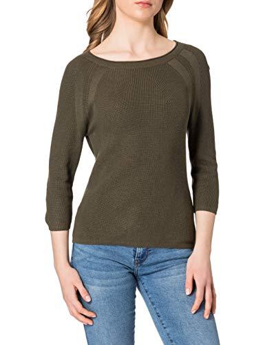 Esprit 021EE1I313 Suéter, 350/verde Caqui, L para Mujer