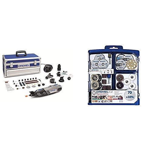 DREMEL 8220 5/65 - Multiherramienta inalámbrica + Dremel 2.615.E72.5JA Kit EZ Speed Clic