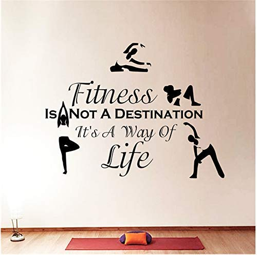 Adhesivo De Pared Deportes Fitness Don'T Train Gym Dormitorio Vinilo Decoración 48 X 70 Cm
