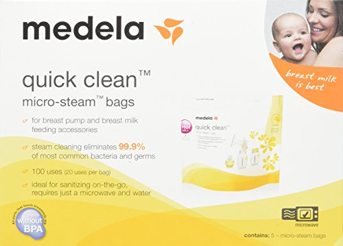Review Medela Quick Clean Micro-Steam Bags Economy Pack of 4 retail boxes (20 Bags Total)