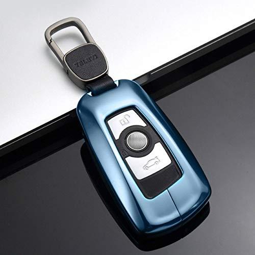 BOOSSONGKANG Caso Chiave Custodia Portachiavi per BMW 1 3 5 Serie 525 320 X3 X4 x5 GT Guscio Chiave in Lega di Alluminio per BMW Porta