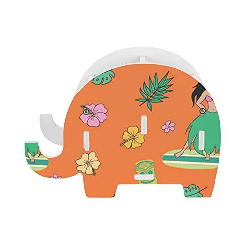 Hula And Tiki - Soporte para lápices (naranja), diseño de elefante