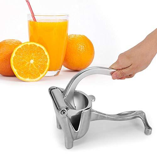 Manueller Entsafter für Zitronen, Tragbarer manueller Fruchtsaftpresse aus Edelstahl Limetten Zitrusfrucht, Entsafter Lemon Orange Squeezer Extraktor-Quetschwerkzeug