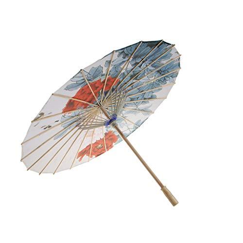 Regenschirm Sonnenschirm Deko Schirm Tanz Schirm, Chinesischer Stil, aus Bambus und Seidentuch - G