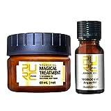 Vaycally Mascarilla para el Cabello, Mascarilla desintoxicante para el Cabello Tratamiento de raíces moleculares avanzadas para el Cabello y Cabello Essentia, Purc Deep Repair Mascarilla para el Cabe