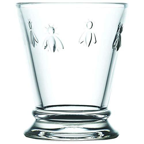 La Rochère Wasserglas Biene Klar 180 ml - 6 Gläser - schöne Trinkgläser Glas mit einzigartigen Look