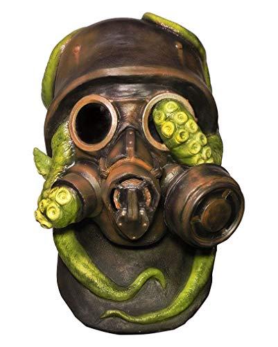 Horror-Shop Kriegs Soldat Gasmaske Atemschutz mit Krake für Halloween & Karneval Kostüme