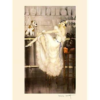 Zest Icart Lady Borzoi Dogs Fine Art Vintage Reproduction FREE SHIPPING