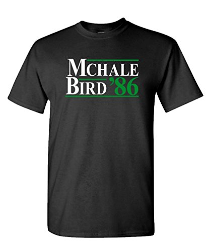 McHale Bird 86 - Basketball Larry Kevin 1986 - Mens Cotton T-Shirt, L, Black