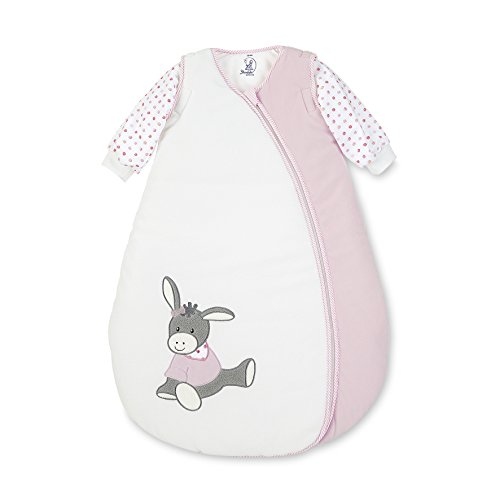 Sterntaler Schlafsack für Kleinkinder, Abnehmbare Ärmel, Wärmeregulierung, Reißverschluss, Größe: 110, Emmi Girl, Weiß/Rosa