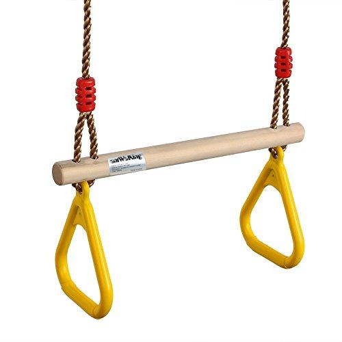 antwalking multifunción barra de trapecio columpio trapecio de madera para los niños...