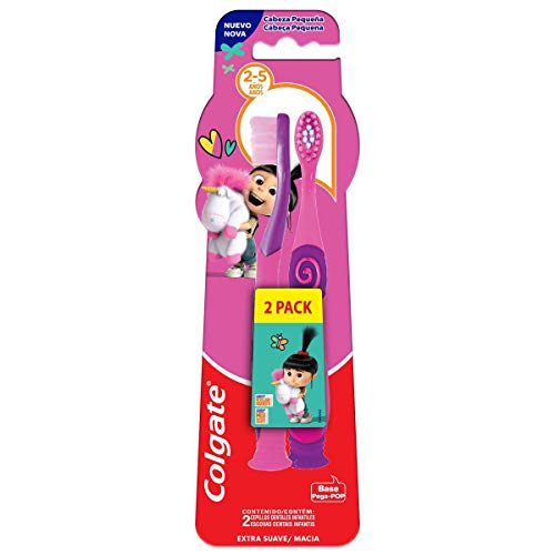 Escova Dental Colgate Smiles Agnes e Fluffy 2 a 5 anos 2 unid, COLGATE