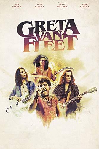 "Pôster artístico Greta Van Fleet Concert Tour ""Cloves"" 61 cm x 91 cm Reimpressão Rock Music"