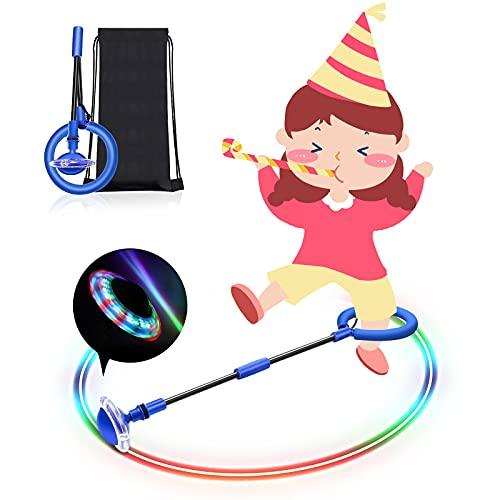 POOPHUNS Bola de Salto de Tobillo,Shine Bola de Salto de Tobillo,Plegable, fácil de Transportar,Divertidos Juegos de Interior y Exterior adecuados para niños y Adultos