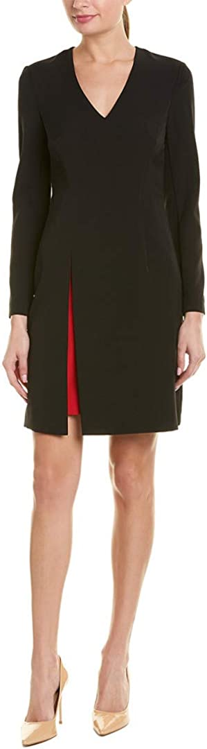 Vince Camuto Women's Long Sleeve V-Neck Bodycon Dress