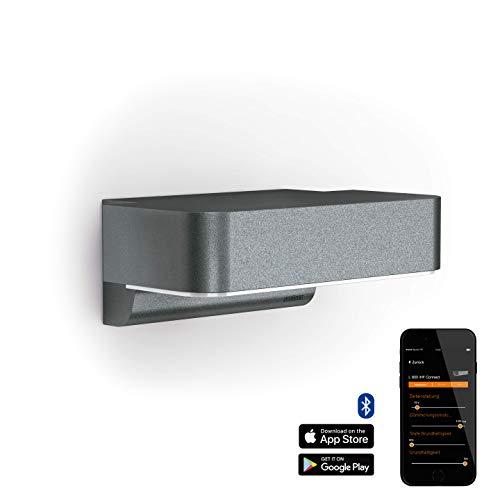 Steinel Außenleuchte L 800 iHF Connect LED Wandlampe, 160° Bewegungsmelder, vernetzbar, per App bedienbar, Aluminium, 10 W, Anthrazit