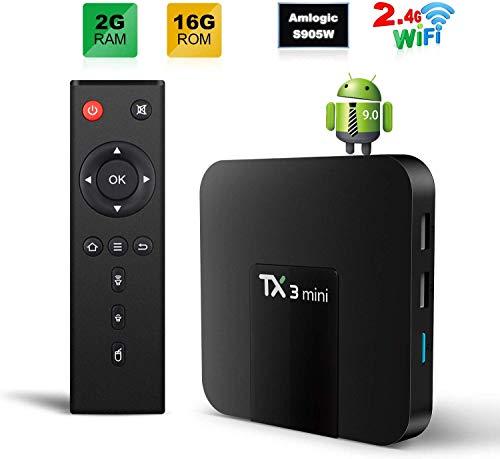 TX3 MINI Smart TV Box Android 9.0 TV BOX 2GB/16GB 4K TV Amlogic S905W Quad core H.265 Decoding 2.4GHz WiFi - 2GB/16GB