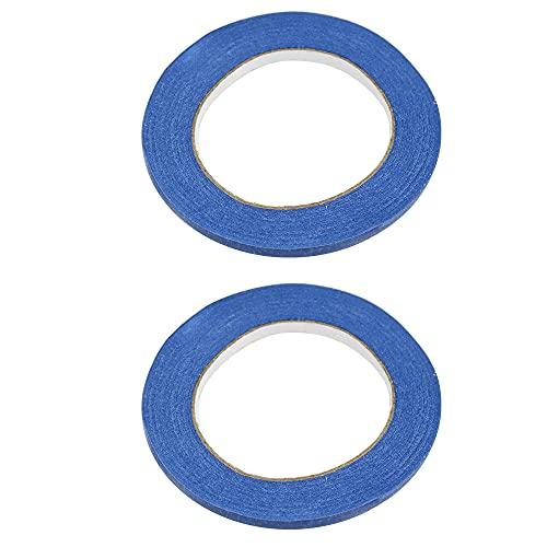 UYUYong 2 Rollos 6mm Cinta de Pintor No Deja Residuos Cinta de Carrocero de uso General Cinta de Pintores Azul Cinta Adhesiva Decorativa para Pintar Coches de Artista