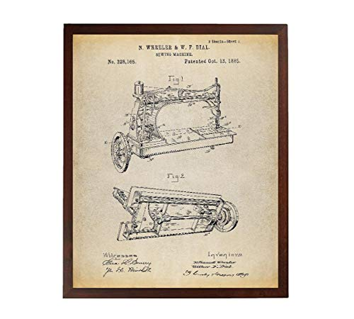Turnip Designs Sewing Machine Patent Poster Art Print Industrial Art Sewing Machine Decor Sewing Machine Print Antique Sewing Machine TNP141