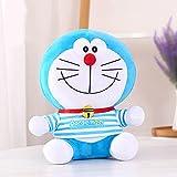 Disfraz a Rayas muñeca Doraemon, muñeca Doraemon, Almohada de Regalo de cumpleaños de Gato Jingle, Juguete de Felpa Azul Gordo Azul 23CM
