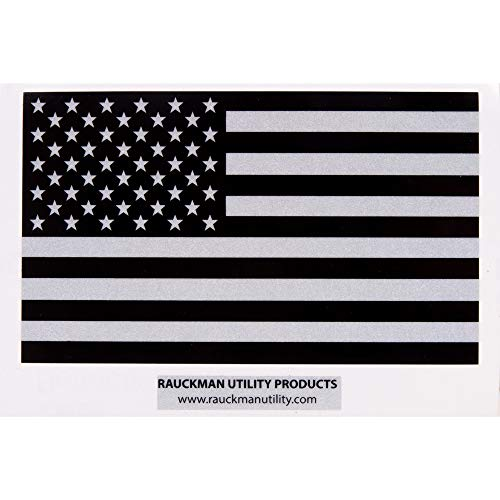 Rauckman Utility Products Black Ops Reflective American Flag Decal, Made in The U.S.A! (3)
