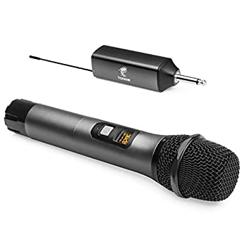 Wireless Microphone TONOR UHF Metal Cordless Handheld Mic System with Rechargeable Receiver for Karaoke Singing Party Wedding DJ Speech 200ft  TW-620
