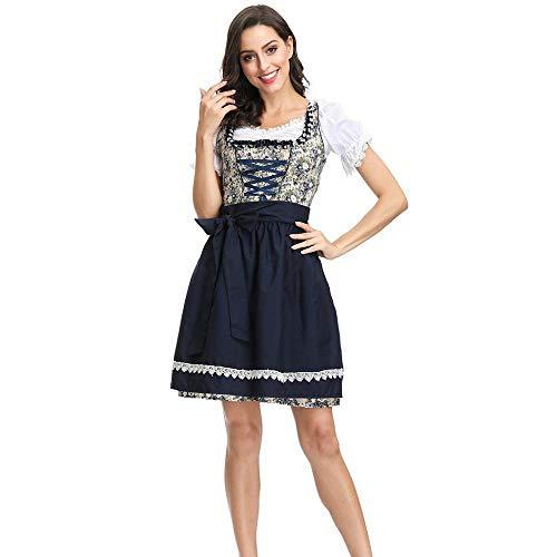 Shndhi Nachthemden Für Damen Erwachsene Frauen Oktoberfest Kostüm Sexy Bier Mädchen Uniform Bayern Deutsch Wench Maid Dirndl Party Fancy Dress-As_Show_XL